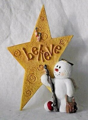 Sarahs Attic Snowonders Believe Hope Fisherman Snowman Angel Fishing Rod August