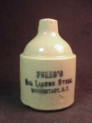 Freed's Big Liquor Store - Schenectady New York - Miniature Whiskey Jug