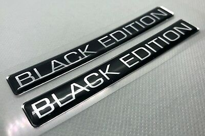 2 pcs. Black Edition badge logo stickers. Domed 3D Stickers/Decals.
