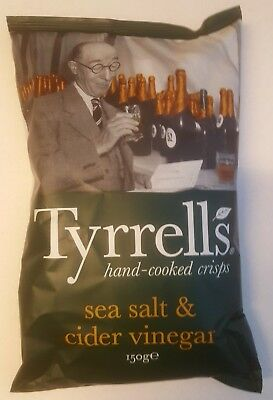Tyrrells Chips sea salt & cider vinegar, 8 Tüten à 150 g