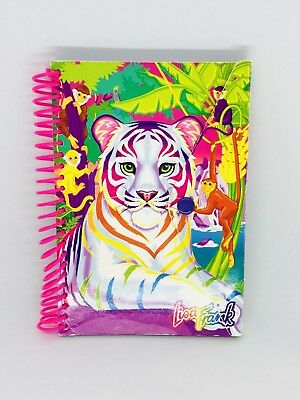 Lisa Frank White Tiger Rainbow Striped Small Notebook Rare Print