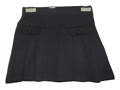 NEW GIRLS EX STORE NAVY JERSEY PLEATED SCHOOL SKIRT AGE 2-12 yrs POCKETS (AA10)