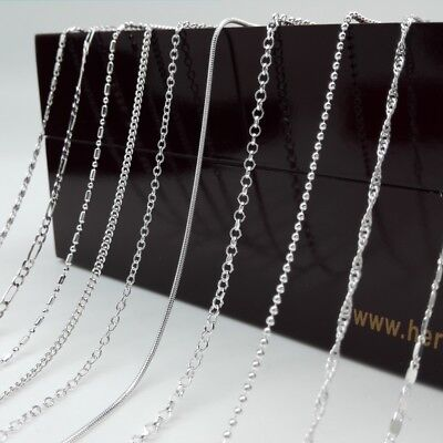 5PCS 16-30inch Wholesale Fashion Jewelry Silver Plated Chain Necklace For Party