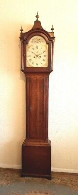 Lovely Georgian Oak and Mahogany Longcase Clock C1795
