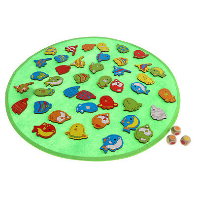 Kids Early Learning Fish Pattern Board Dice Game Memory Toy Gift Educational