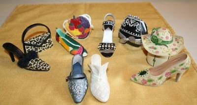 10 Piece lot ~ Just the right Shoe & Sarna Miniature Shoes and Trinket Boxes 199