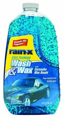 Car Wash Wax Soap Foaming Shampoo Cleaner Protect Rain-x 5077557 High Foam 64oz