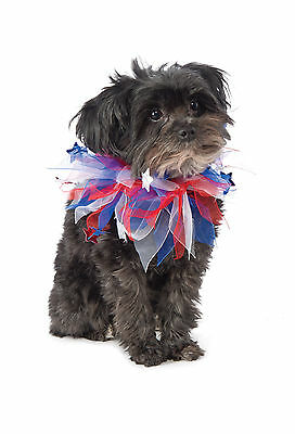 Red, White & Blue Patriotic Pet Collar - 3 Sizes - Memorial Independence Day fnt