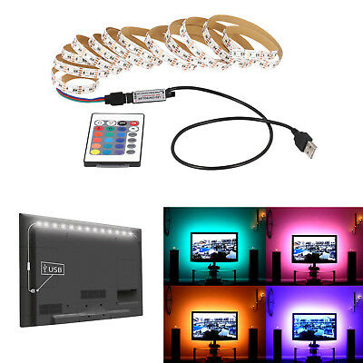 1M 2M 3M 4M 5M DC 5V USB LED Strip RGB Light TV Back Lighting Kit + IR Remote