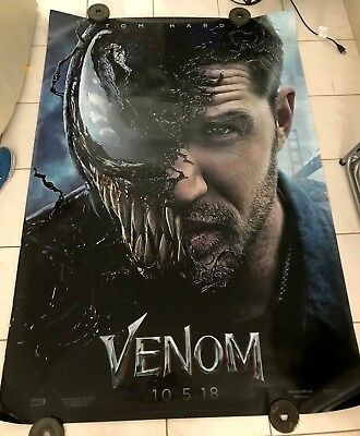 Venom 4ft x 6ft MARVEL Double Sided Movie Theater Huge AUTHENTIC TOM HARDY