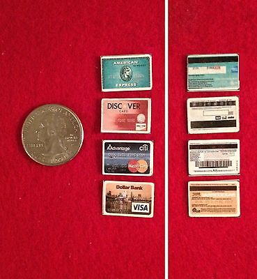 """1:6 scale Handmade miniature for 11""""-12"""" size dolls - Set of 10 Credit Cards"""