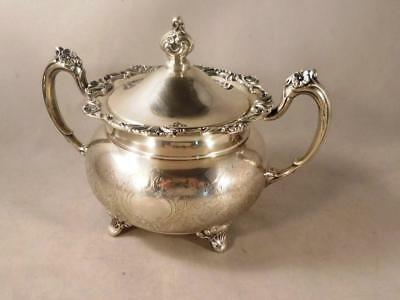 Vtg Ascot Sheffield Reproduction by Community Silver Plated Sugar Bowl with Lid
