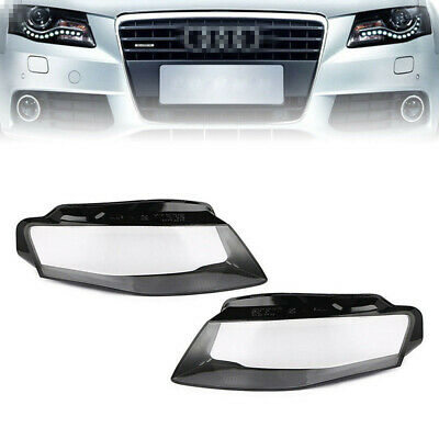 Front Headlights Head Lamp Cover Clear Lens For Audi A4 B8 2009 2010 2011 2012