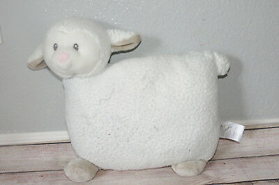 Little Miracles White Lamb Sheep Sherpa Toddler Costco Plush Baby Pillow 18x18""