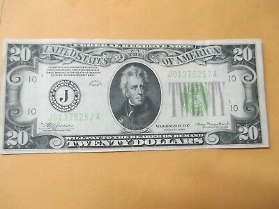 1934 $20 Federal Reserve Note Nice Note