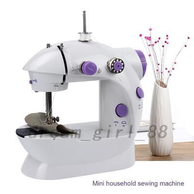Mini Sewing Machine Adjustable 2-Speed Double Thread Electric Mending Durable