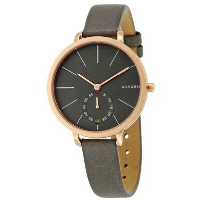 ad969d9c7d52 SKAGEN WOMEN S HAGEN  Leather Strap Watch