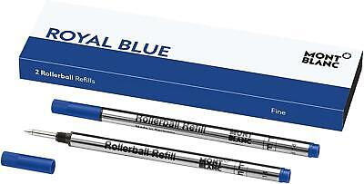 MontBlanc Rollerball Refill, Fine Pack Of 2 Pacific Blue 105163