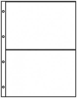 Lindner 8812 Pocket pages A4 crystal clear with 2 pockets (220 x 150 mm) - pack