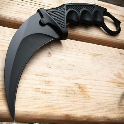 TACTICAL COMBAT KARAMBIT NECK KNIFE G'Store Survival Hunting BOWIE Fixed Blade w