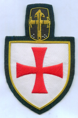 Medieval Templar Holy Land Knight Crusades War Battle Helmet Shield Cross Patch