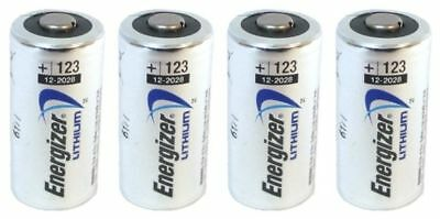 4 x CR123 Energizer 3V Lithium Batteries (CR123A, DL123,EL123, CR17345) EXP 2028