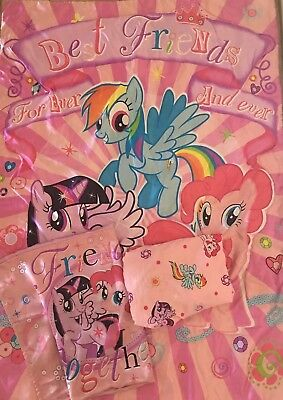 My Little Pony Toddler Bedding Pink Kids Bed Set, Comforter,fitted&flat Sheet