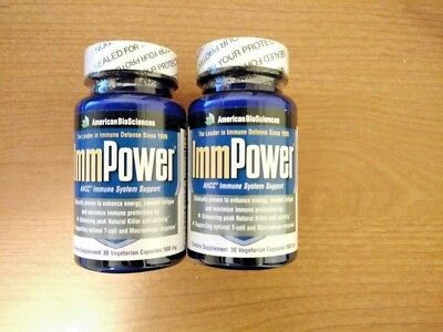 2 AMERICAN BIOSCIENCES Immpower AHCC 500 Mg 30 Capsules
