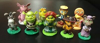 SHREK 2006 Fairytale Friends toys collectibles cake toppers LOT of 9 figures