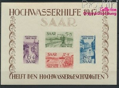 Saar block1 unmounted mint / never hinged 1948 Flood relief (8882941