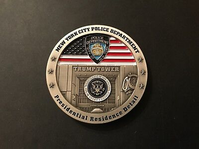 Nypd Trump Presidential Residence Detail Challenge Coin