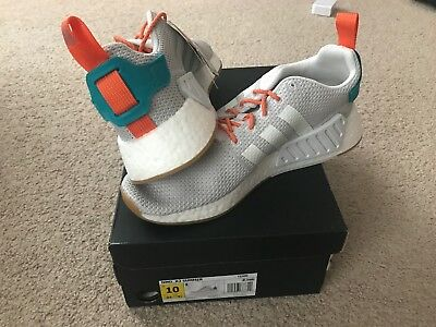 new product 251d0 17412 ADIDAS NMD R2 (Summer) White Grey Gum Sole Boost CQ3080 New NIB Mens Size 10