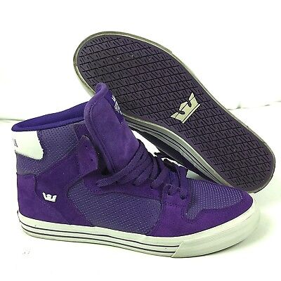 0fec9d98c73 Supra Vaider Mens Size 11 Purple Canvas Suede High Top Sneakers Shoes  Skateboard