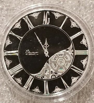 2018 1 oz .999 Silver Clock chronos time piece end the fed pocket watch nice new