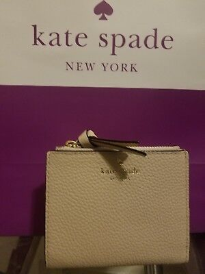 c889883e75c57 New Kate Spade Small Malea Mulberry Street Double Zipper Wallet Soft  Porcelain