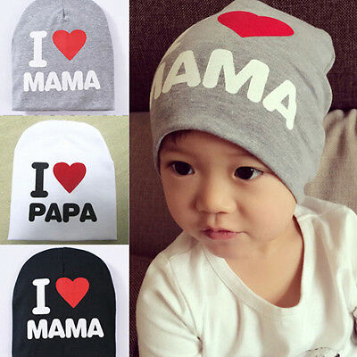 Baby Infant Kid Boy Girl Love Heart Soft Hat Knitted Cap Cotton Beanie Novelty