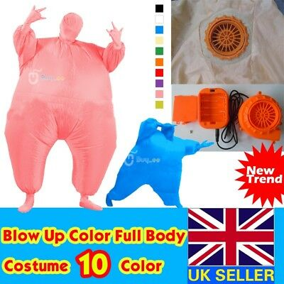 Airsuit Inflatable Fat Chub Masked Suit Fancy Dress Outfit Party Blow Up Costume