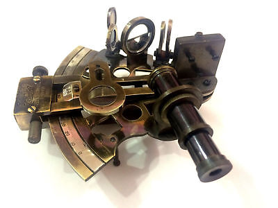 Hughes kelvin Nautical Sextant Antique German Patters Sextant with Wooden Box