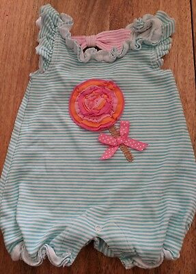 e00af0306d6 Mud Pie Girls Boutique Size 6-9 month Striped Bubble Romper One Piece Outfit