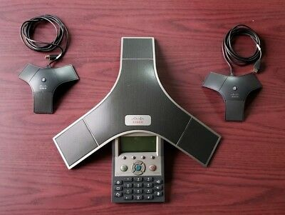 CISCO Unified IP Conference Station CP-7937G CP-7937 w/ 2x External Mic & Cables
