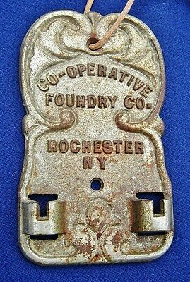 Co-Operative Foundry Co. Rochester NY: Antique Furnace Draft Regulator Cast Iron