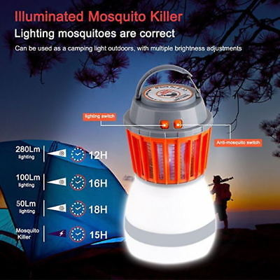 Solar LED Mosquito Killer Fly Bug Insect Zapper Light Trap Lamp Camping Home HOT