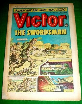 Baluch Regiment In Burma  Ww2 Cover Story In Victor Comic 18/1/1975