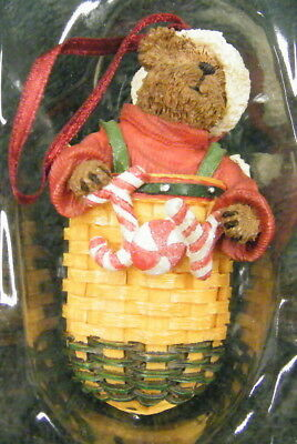 LONGABERGER BOYDS BEARS PEPPERMINT ELF Christmas Ornament IN BOX FREE SHIPPING