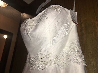 f0b0a6406b6 DAVIDS BRIDAL WEDDING dress size 12 Ivory -  299.99