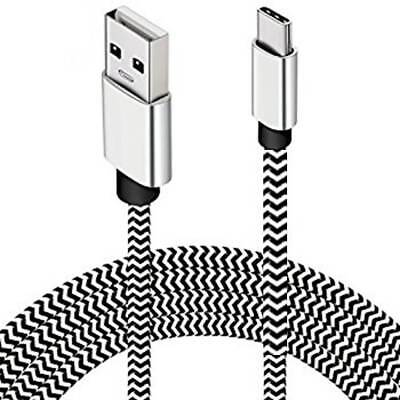Heavy Duty Metal Braided USB Data Cable Charger Lead Micro USB Type-C Lightning