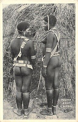 Postcard   Ethnic    Africa  Nude  Women   Young  Zulu  Flappers