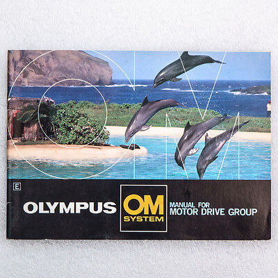 Olympus OM Camera System Motor Drive Group Manual Guide Book