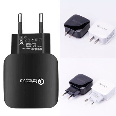 3A Qualcomm Certified QC3.0 Quick Charge USB Wall Charger for Samsung Xiaomi LG