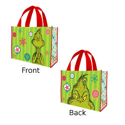 Dr. Seuss The Grinch Christmas Large Recycled Tote Bag Shopper Xmas Stole